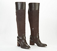 4d54f013c10a Marc Fisher Leather Suede Wide Calf Over the Knee Boots - Editer - A343893