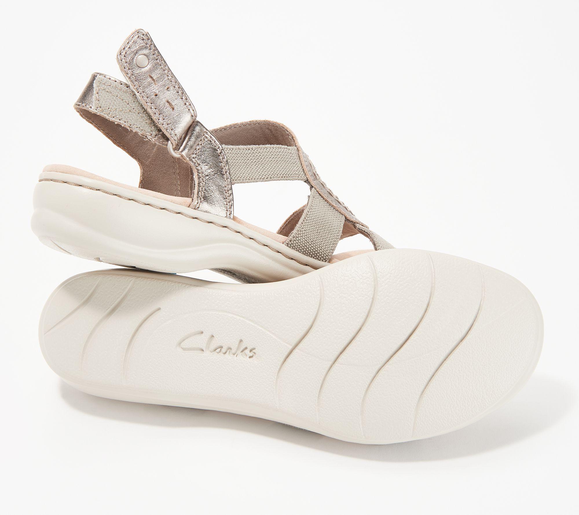 40f7cef46941 Clarks Collection Backstrap Sandals - Leisa Joy - Page 1 — QVC.com