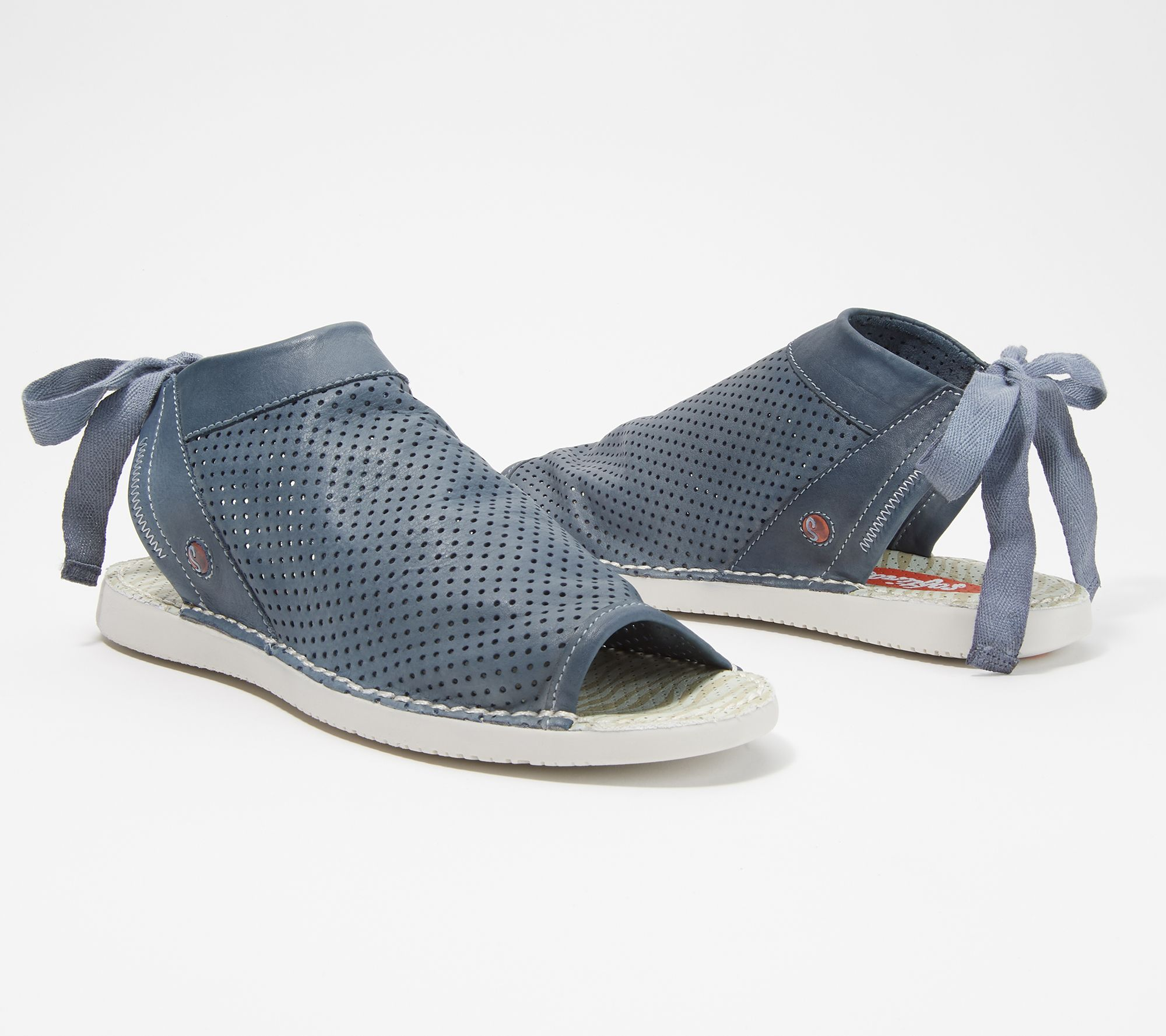 1aa7781df99 Softinos by FLY London Leather Tie-Back Sandals - Tre - Page 1 — QVC.com