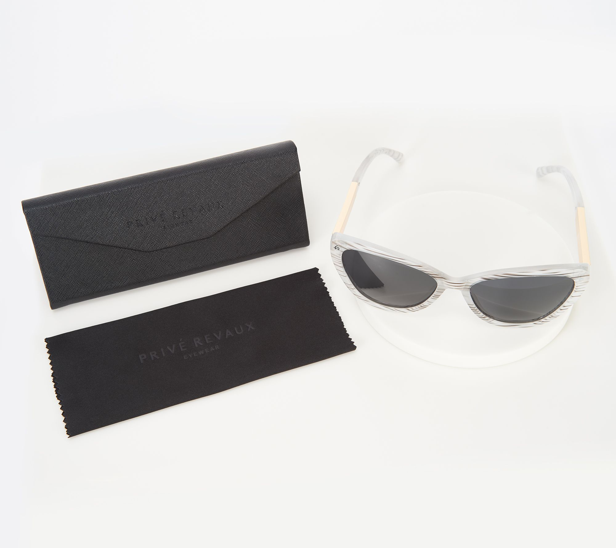 5dc06a4e639 Prive Revaux The Hepburn 2.0 Cat-Eye Polarized Sunglasses - Page 1 — QVC.com