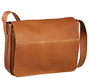 Le Donne Leather Full Flap Laptop Messenger Bag - A363193