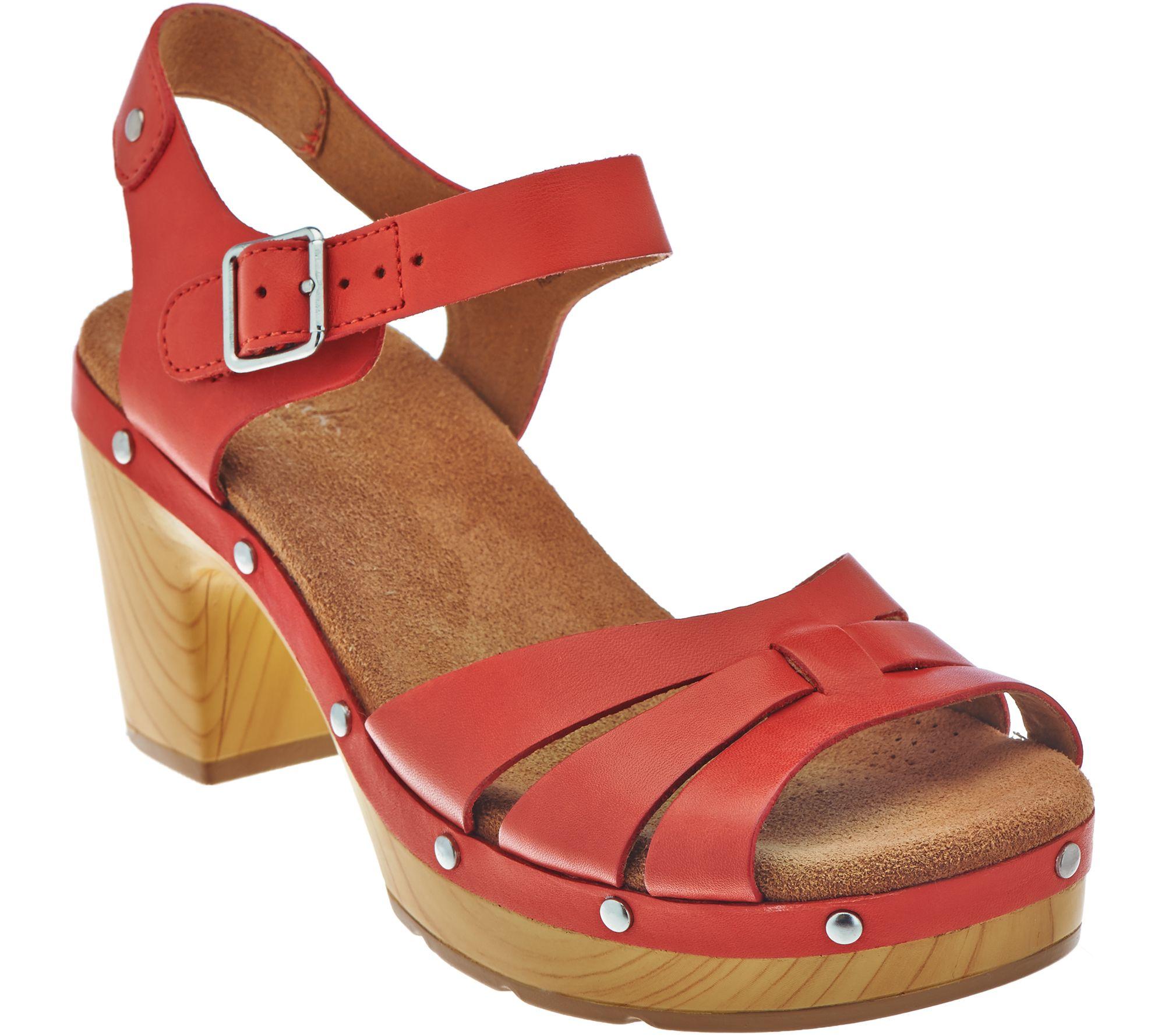479b02e8afb0 Clarks Artisan Leather Clog Sandals - Ledella Trail - Page 1 — QVC.com