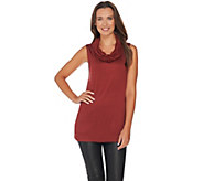 Lisa Rinna Collection Sleeveless Cowl Neck Knit Top - A279894