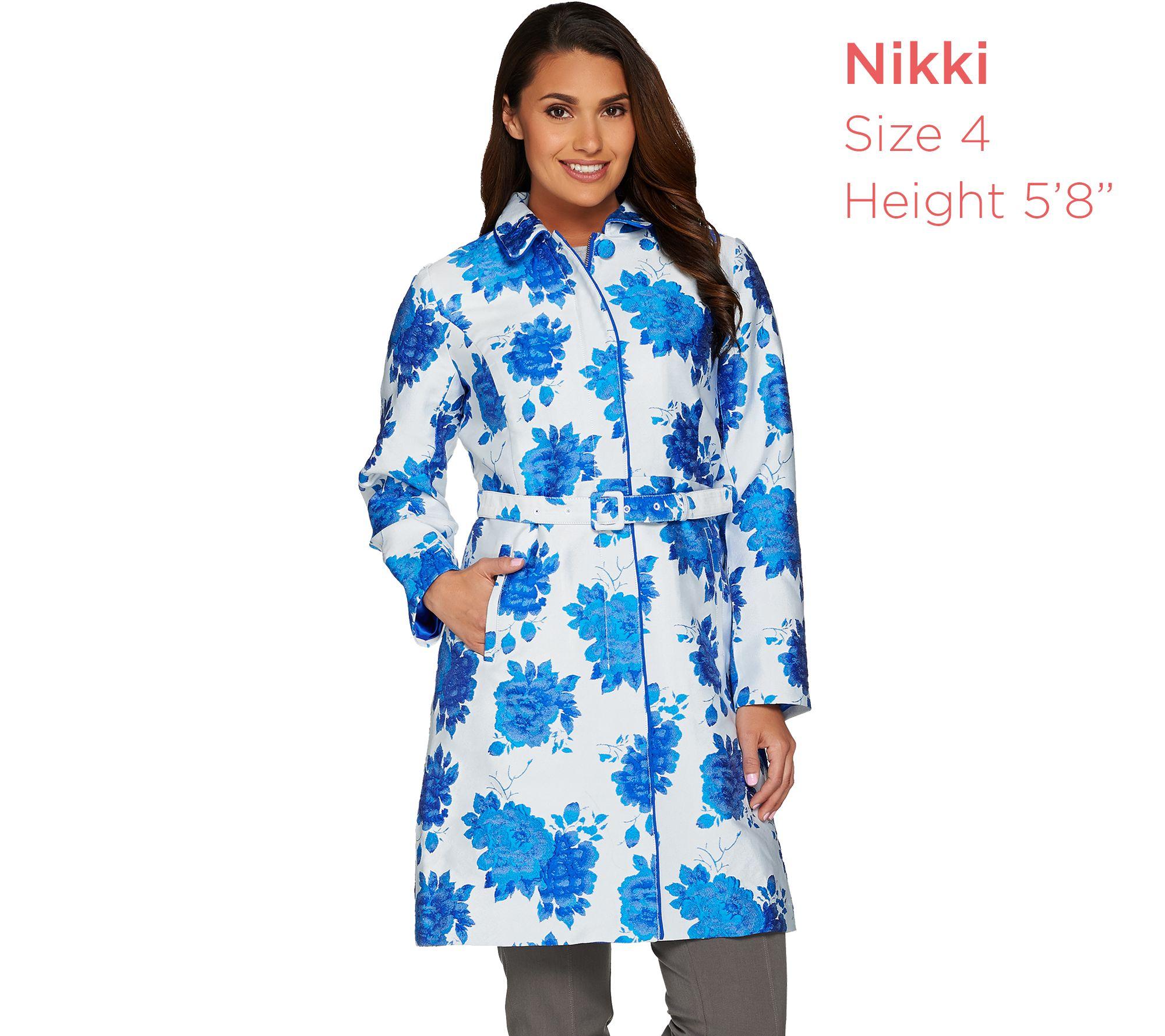 5663b4b87cbd9 Isaac Mizrahi Live! Special Edition Floral Jacquard Topper Coat - Page 1 —  QVC.com