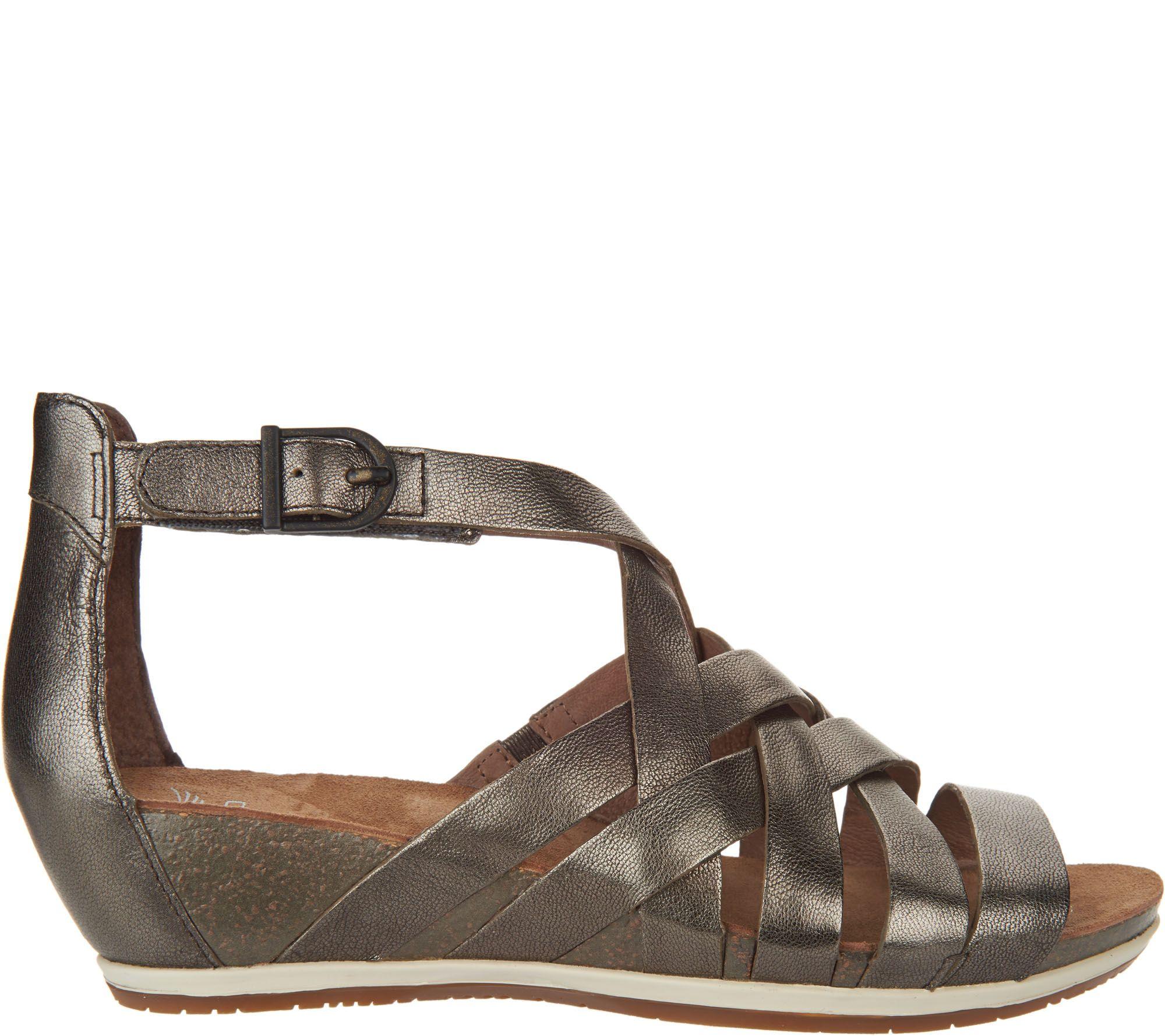 Multi Strap — Dansko Leather Vivian Sandals Wedge 4qR35AjL