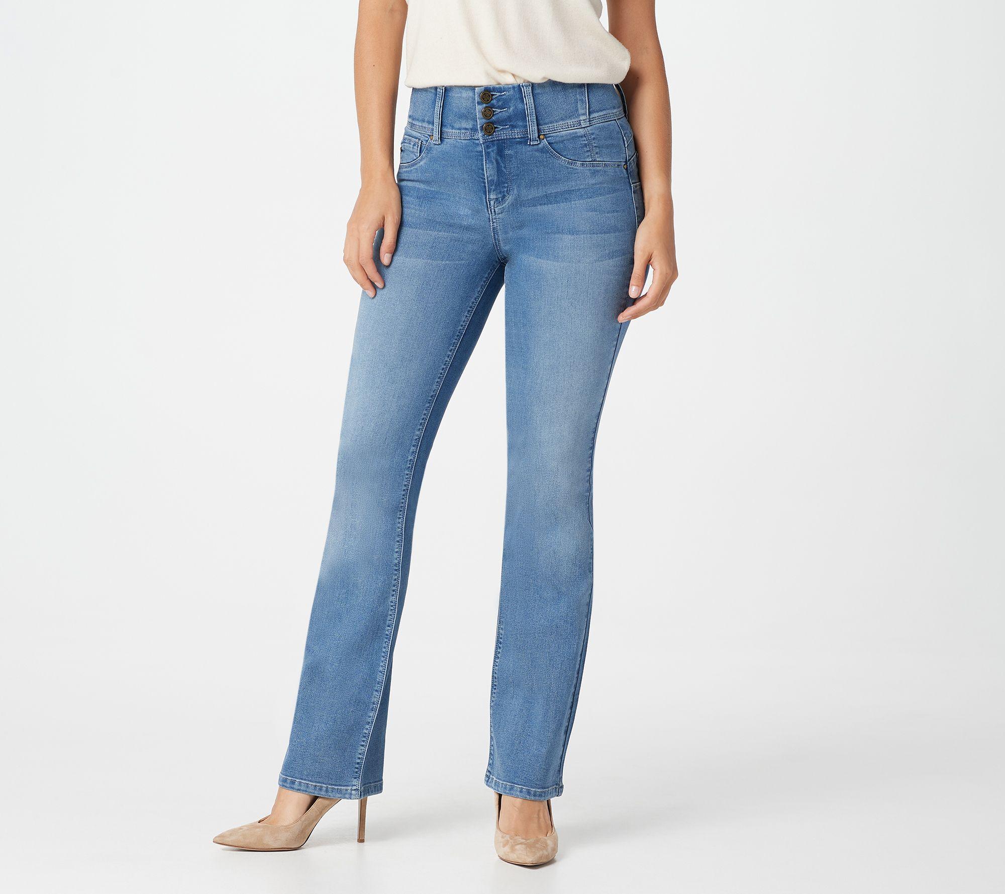 605102850c0a0 Laurie Felt Regular Curve Silky Denim Boot-Cut Jeans - Page 1 — QVC.com