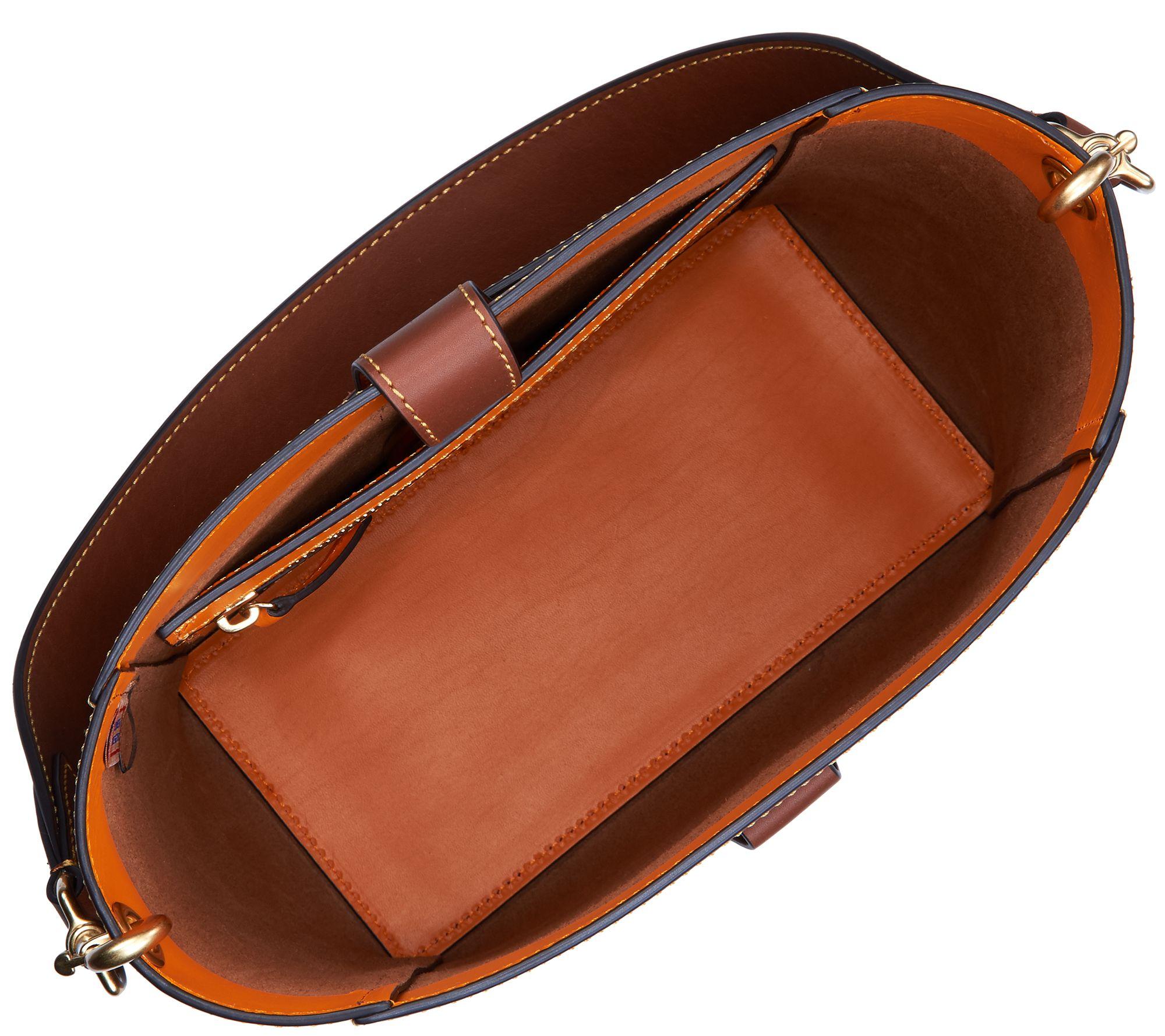 Dooney Bourke Emerson Leather Shoulder Bucket Handbag Brynn Medium Brown New Page 1