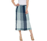 LOGO by Lori Goldstein Broomstick Pleated Cotton Gauze Skirt - A305494