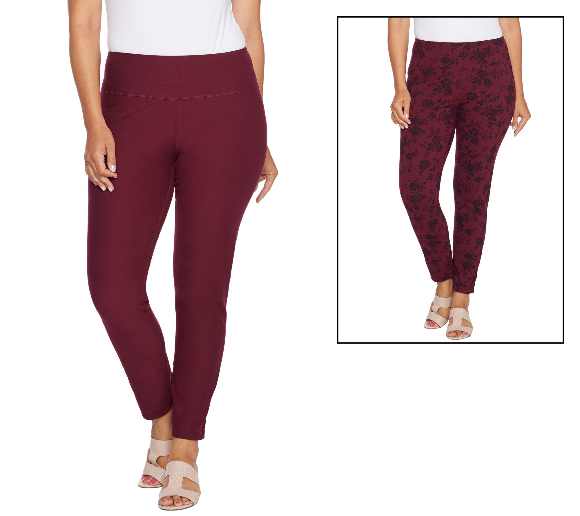07c78492cd1dfc Women with Control Regular Renee's Reversibles Ankle Pants - Page 1 —  QVC.com