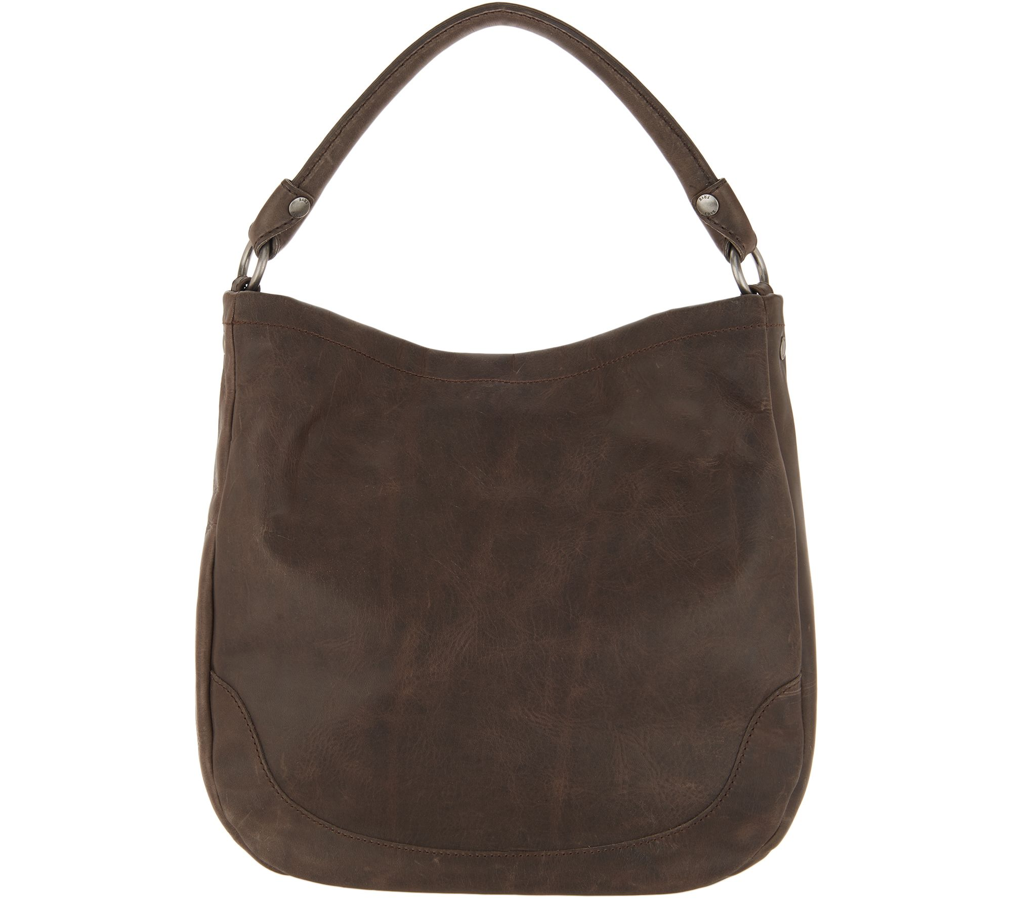 7947d380ee Frye Leather Melissa Stud Hobo - Page 1 — QVC.com