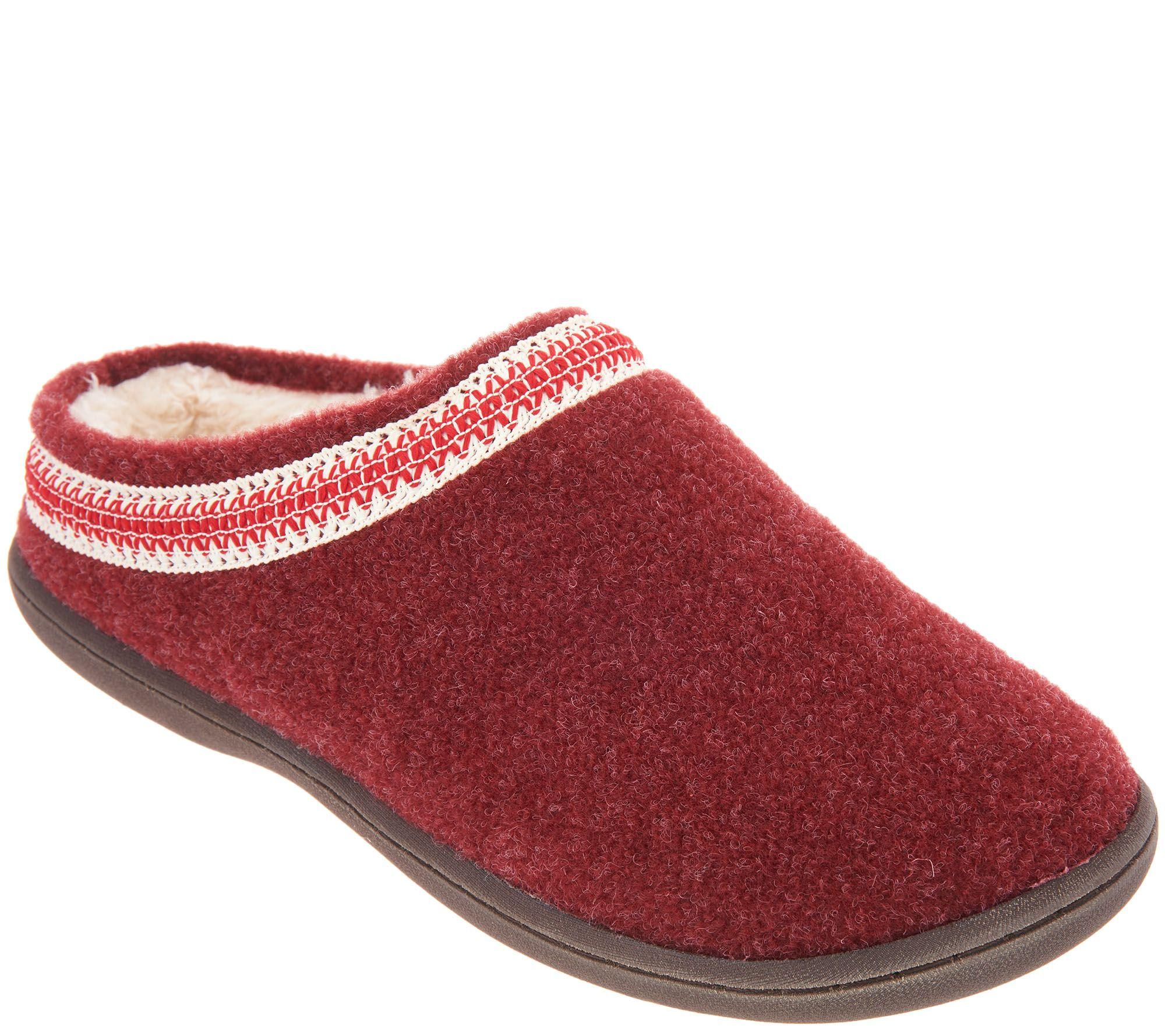 e89f603a5728a Clarks Felt Women's Slippers with Trim Detail — QVC.com