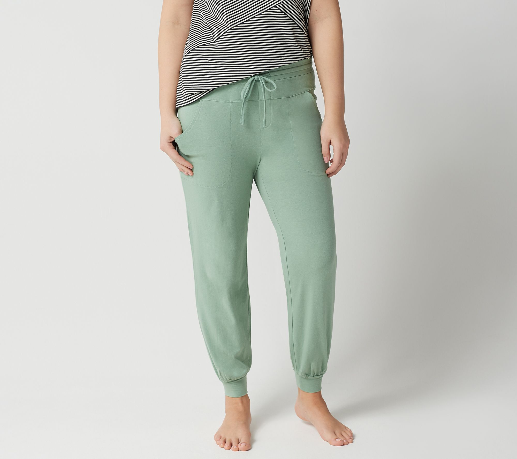 66acb2fb25afe AnyBody Petite Cozy Knit Jogger Pants - Page 1 — QVC.com
