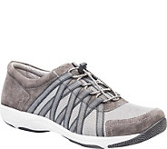 Dansko Lace Up Leather and Mesh Sneakers - Honor - A360694