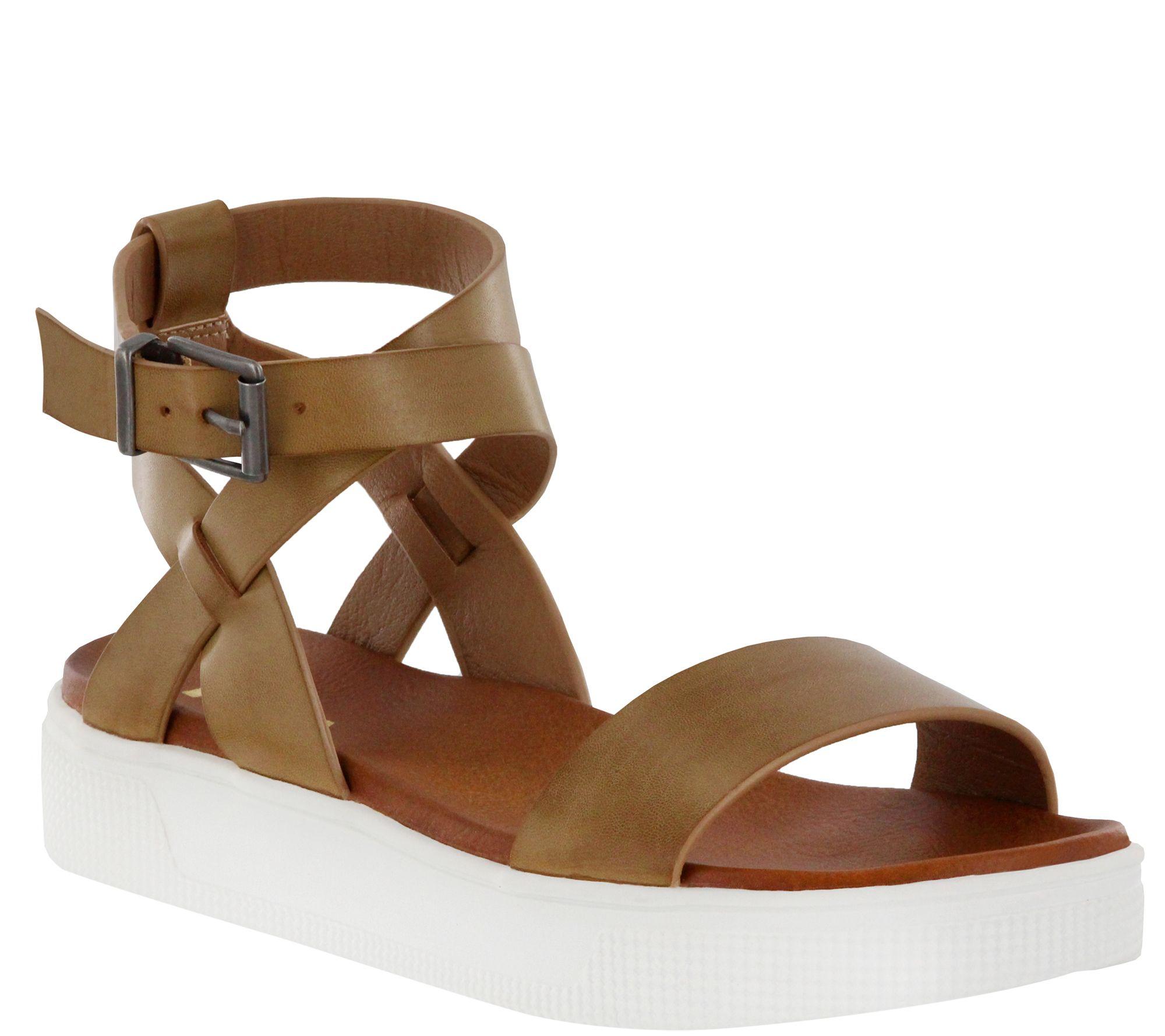 f25ecedb4b57 MIA Shoes Flat Ankle Strap Sandals - Calla - Page 1 — QVC.com
