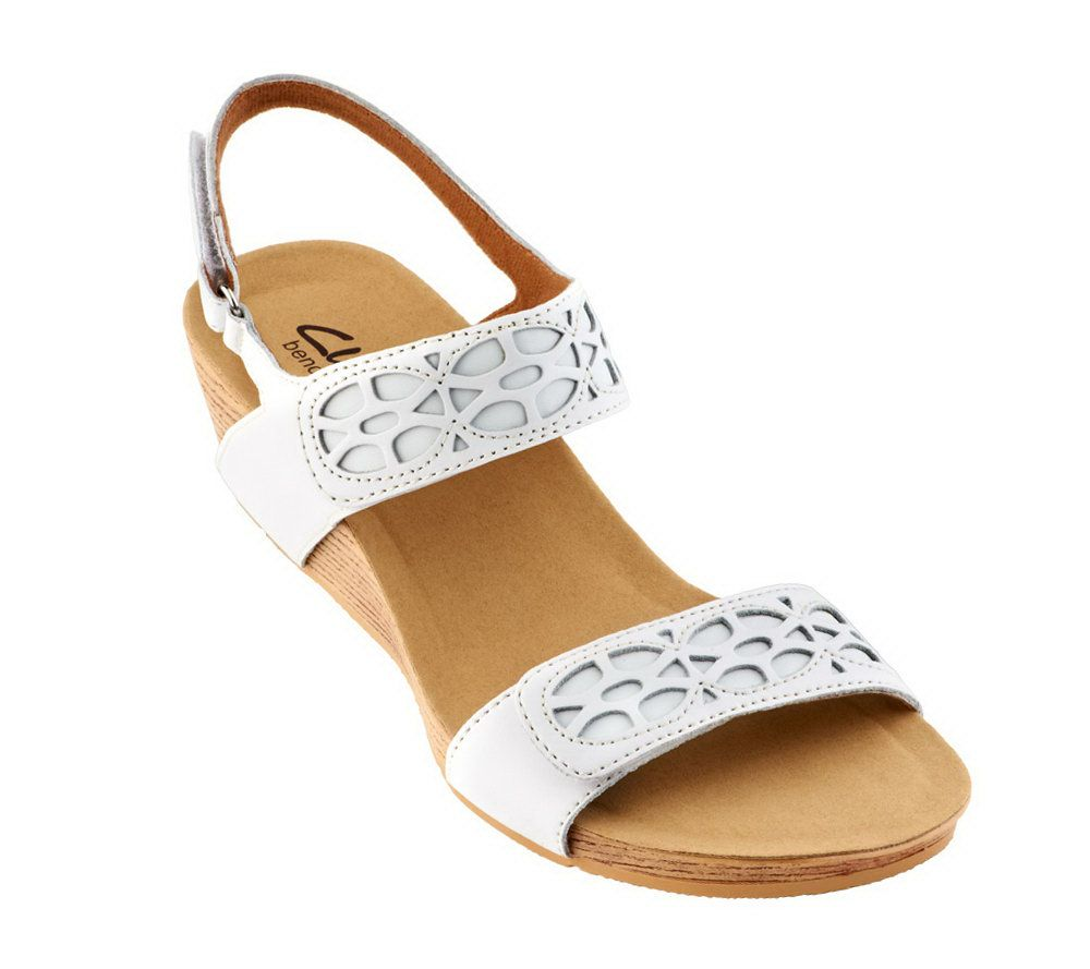 fbe40e79b28f Clarks Leather Wedge Sandals - Alto Anthem - Page 1 — QVC.com