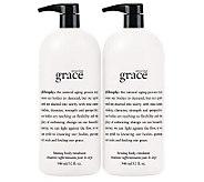 philosophy super-size amazing grace emulsion 32 oz. duo - A237795