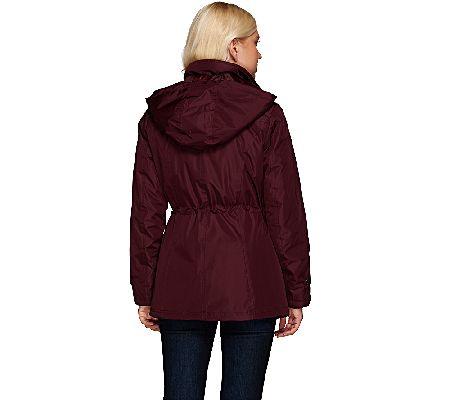 09577bd4121 Liz Claiborne New York Zip Front Anorak Coat w  Quilting - Page 1 — QVC.com