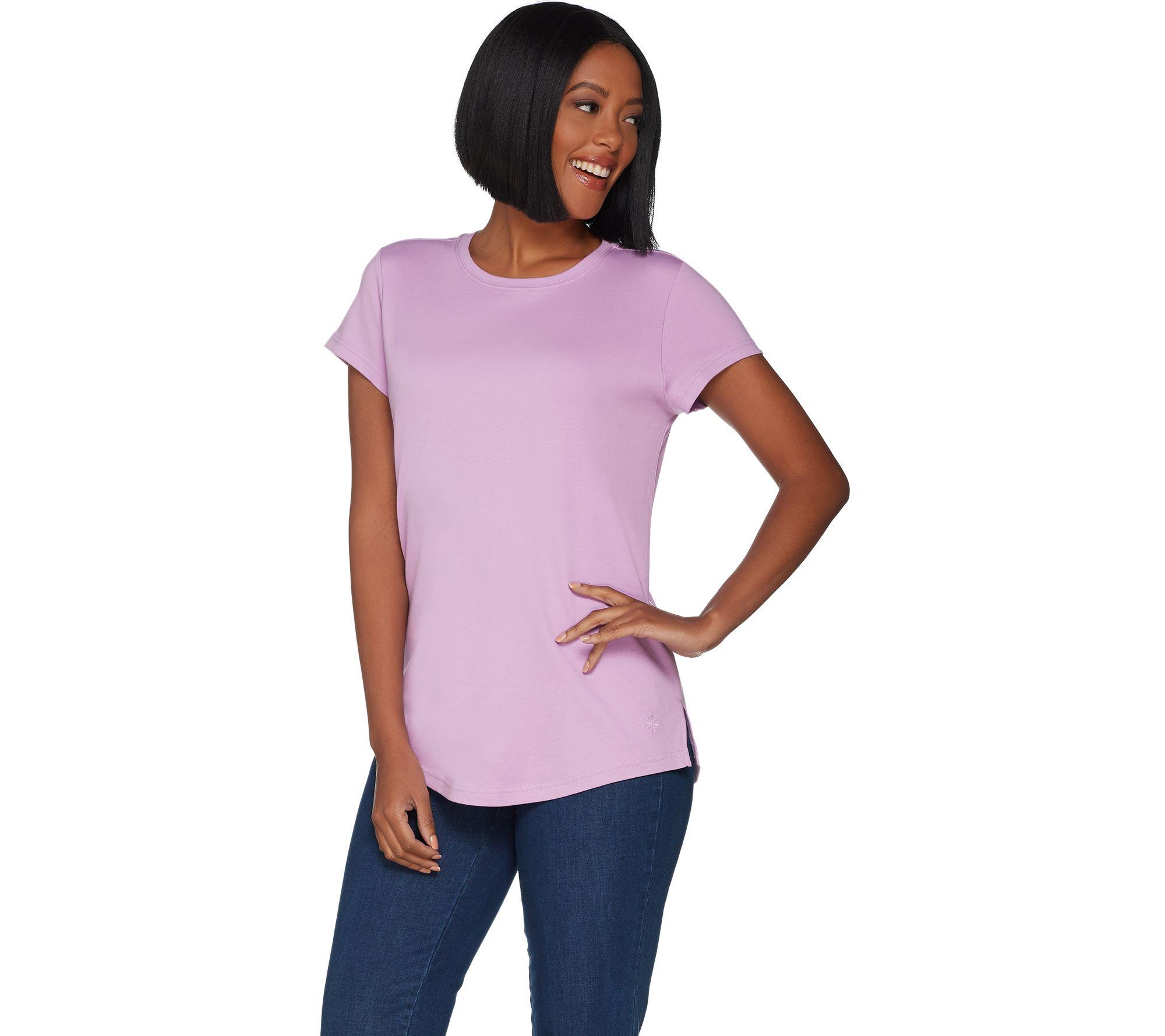 34b12f0489 Isaac Mizrahi Live! Essentials Pima Cotton Curved Hem T-Shirt - Page ...