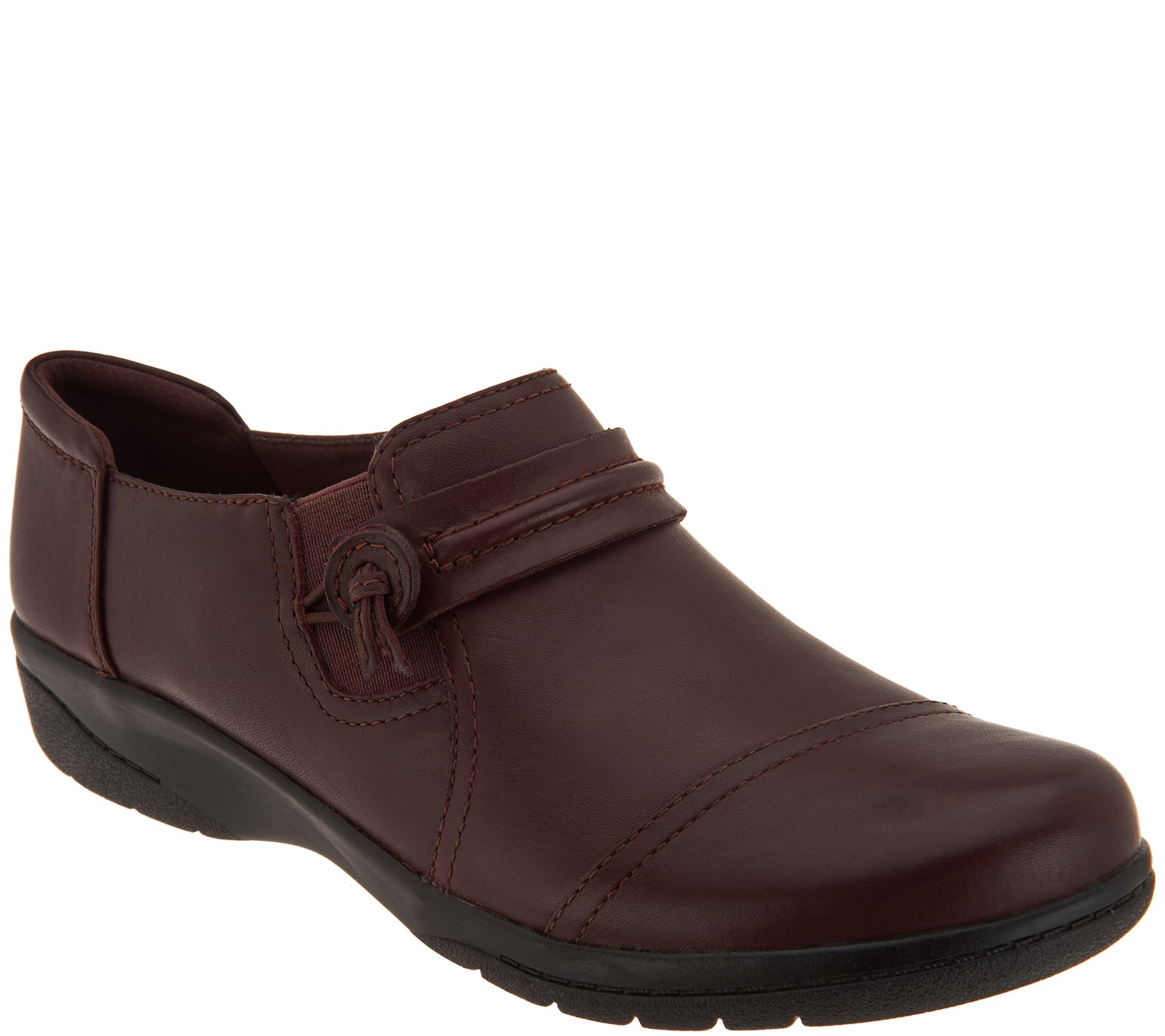 a2206332 Clarks Collection Leather Slip-on Shoes - Cheyn Madi — QVC.com