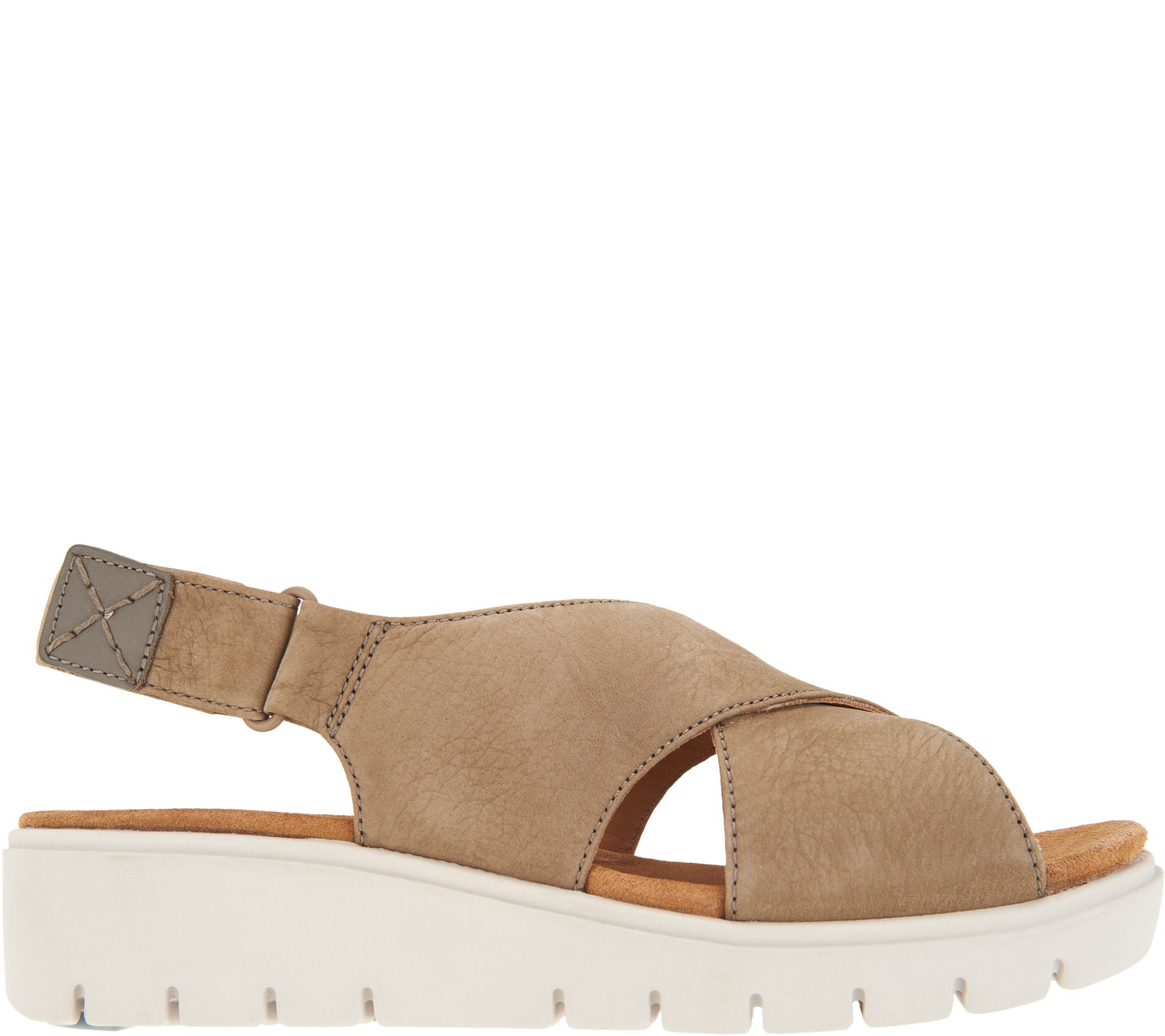 fc5cd0dd026 Clarks UnStructured Leather Low Wedge Sandals - Un Karely Hail - Page 1 —  QVC.com