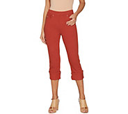 Belle by Kim Gravel Flexibelle Pull-On Cuffed Capri Jeans - A305595
