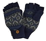 MUK LUKS Sweater Vest Flip Glove for Men - A320495