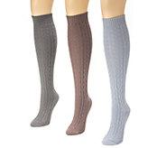 MUK LUKS Womens 3-Pair Boot Sock Pack - A337695