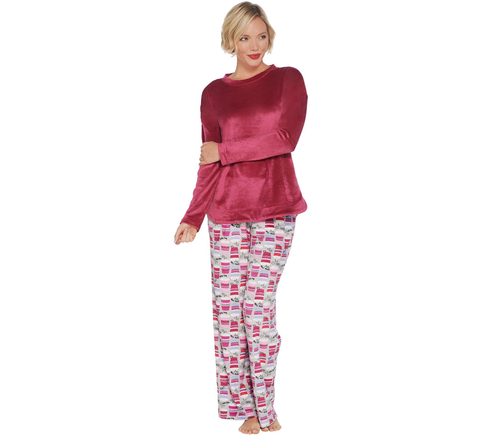 9a30ad76f05 Cuddl Duds Ultra Plush Velvet Fleece Novelty Pajama Set - Page 1 — QVC.com