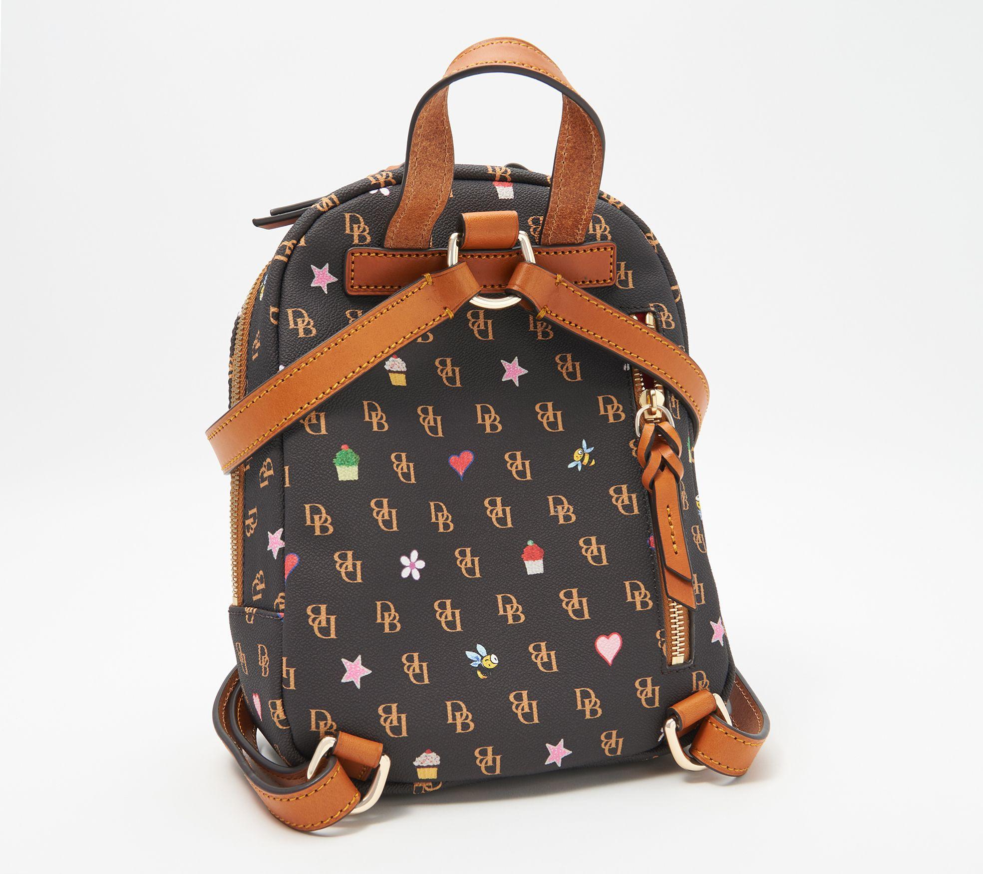Mr.Weng Golden Black Pattern Printed Canvas Backpack For Girl and Children