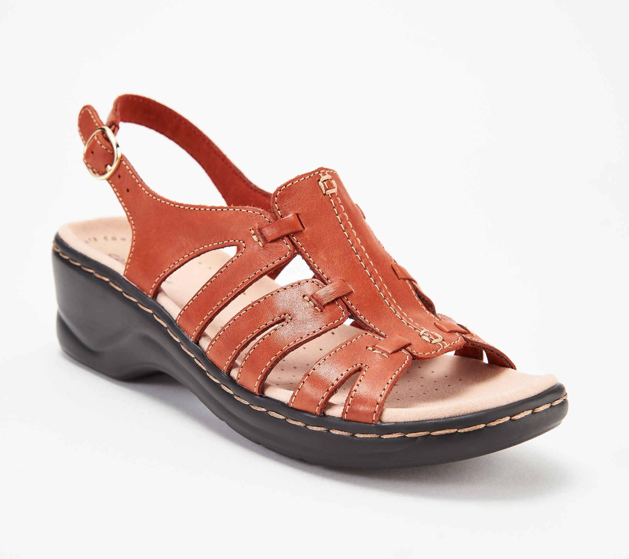 9ec4553f103 Clarks Leather Lightweight Sandals - Lexi Marigold - Page 1 — QVC.com