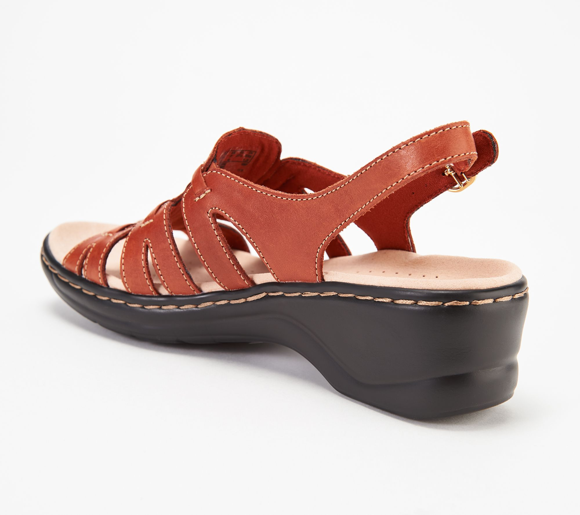 dd80b0ce5a5e5 Clarks Collection Leather Sandals - Lexi Marigold - Page 1 — QVC.com