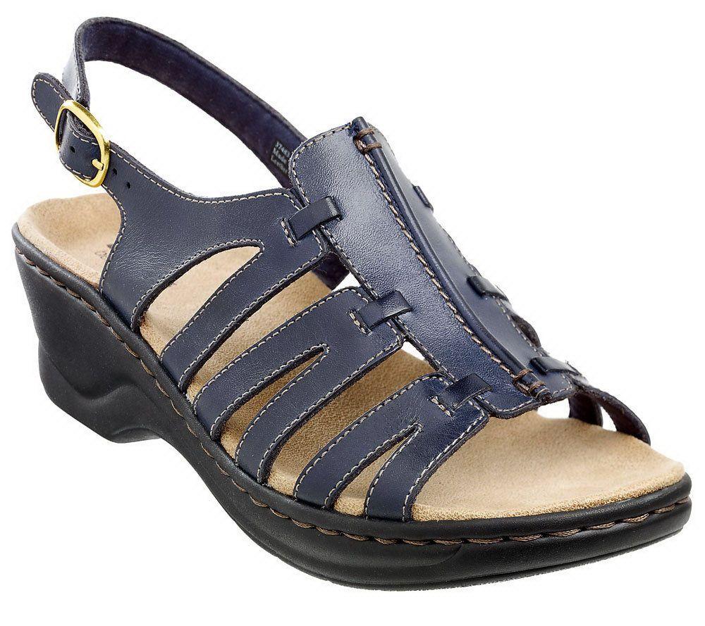 a84077c47272 Clarks Leather Lightweight Sandals - Lexi Marigold — QVC.com