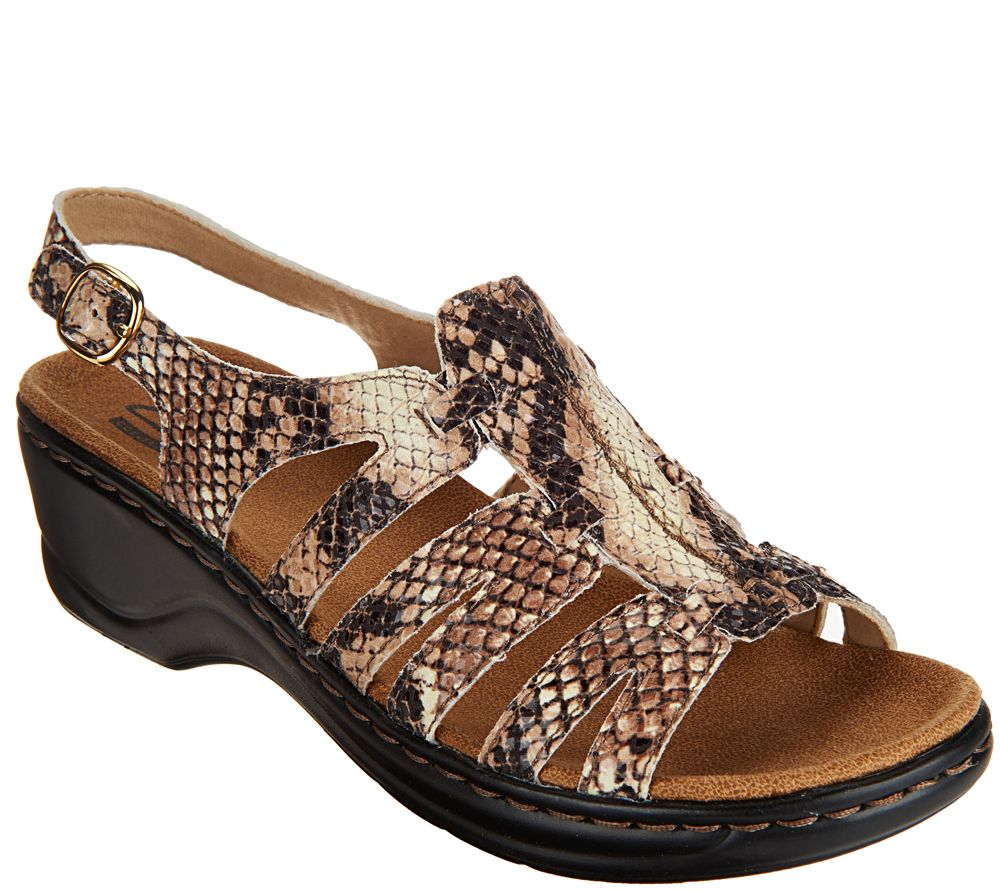 4057f57237bb4 Clarks Leather Lightweight Sandals - Lexi Marigold - Page 1 — QVC.com