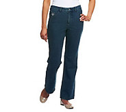 Quacker Factory DreamJeannes Tall 5 Pocket Knit Denim Boot Cut Pants - A217496