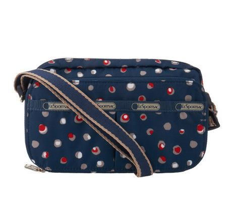 Lesportsac Printed Crossbody Wallet With Adjulestrap Page 1 Qvc