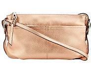 As Is B. Makowsky Leather E/W Crossbody Bag - A233996