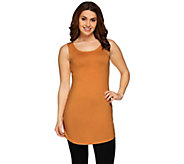 LOGO Layers by Lori Goldstein Regular Curved Hem Knit Tank - A235496