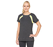 Denim & Co. Active Duo-Stretch Raglan Sleeve Color-Block Top - A262596