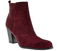 Marc Fisher Leather & Stretch Ankle Boots - Frenchie - A268096