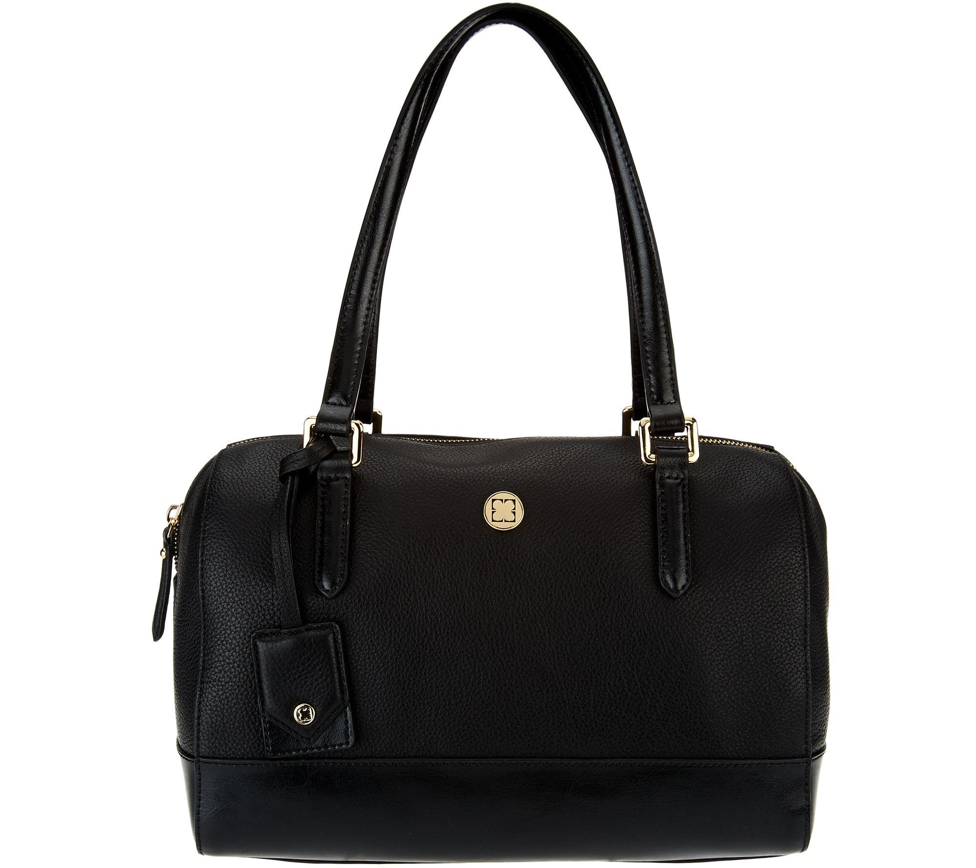 6234ed0608 Liz Claiborne New York Heritage Collection Leather Handbag - Page 1 —  QVC.com