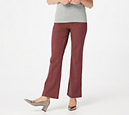 Women with Control Petite Herringbone Boot Cut Pants - A280896