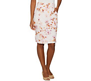 LOGO Lounge by Lori Goldstein French Terry Printed Skirt - A288896