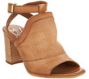 Miz Mooz Leather Block Heel Sandals - Shiloh - A290596