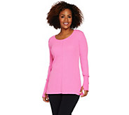 cee bee CHERYL BURKE Long Sleeve Thermal Pullover Top - A292196