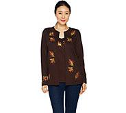 Quacker Factory Autumn Leaves Long Sleeve Knit Duet Set - A292696