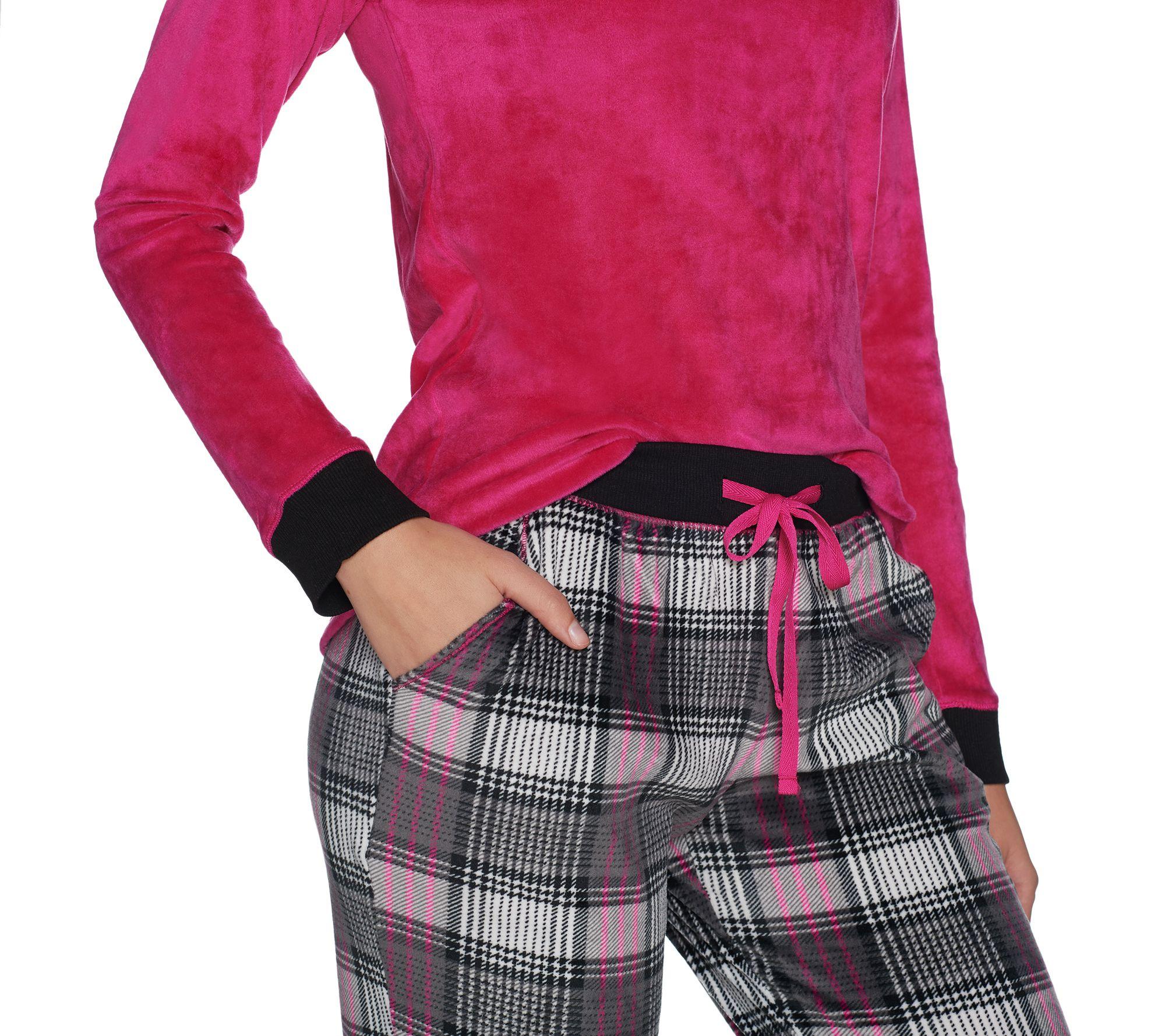 e0c297764fbcf8 Cuddl Duds Petite Ultra Plush Velvet Fleece Pajama Set - Page 1 — QVC.com