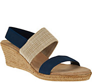 Charleston Shoe Co. Colorblocked Wedge Sandals - Cooper - A296896