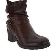 Miz Mooz Leather Block Heel Ankle Boots - Serenity - A300296