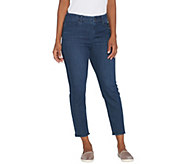 Kelly by Clinton Kelly Petite Crop Jeans with Frayed Hem - A304696
