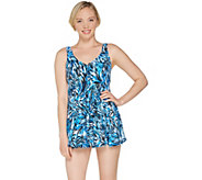 Fit 4 U V-Neck Swing Swim Dress - A305896